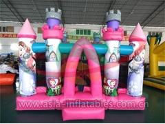 Ultimate Party Inflatable Pink Cartoon Mini Bouncer