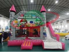 Customized Party Hire Inflatable Super Mario Mini Bouncer