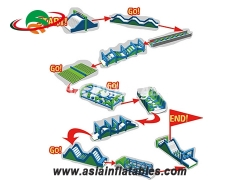 New Arrival Inflatable Assault Obstacle Courses For School Training