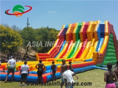 Race Inflatable Multi Lanes Slide